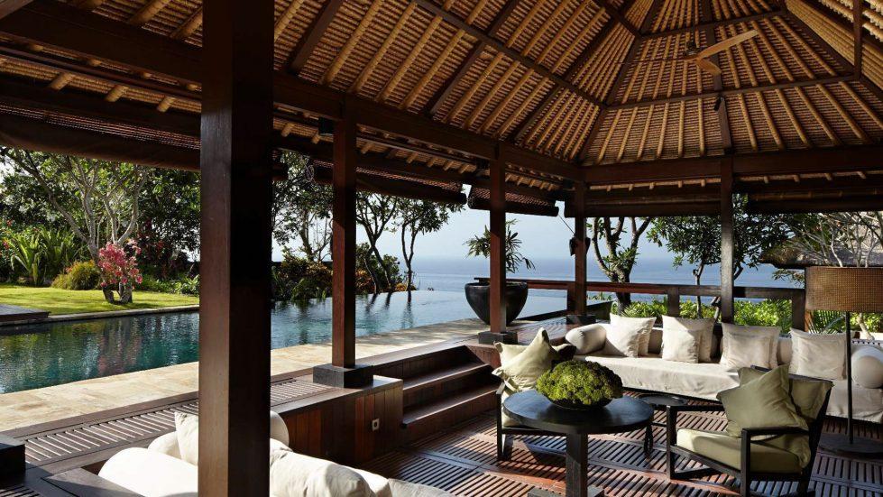 Bvlgari Luxury Resort Bali - Uluwatu, Bali, Indonesia - The Bvlgari Villa Ocean View Pool Lounge