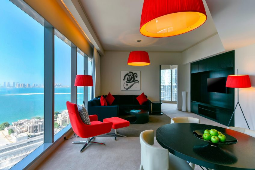 W Doha Luxury Hotel - Doha, Qatar - Witty Residence Living Room