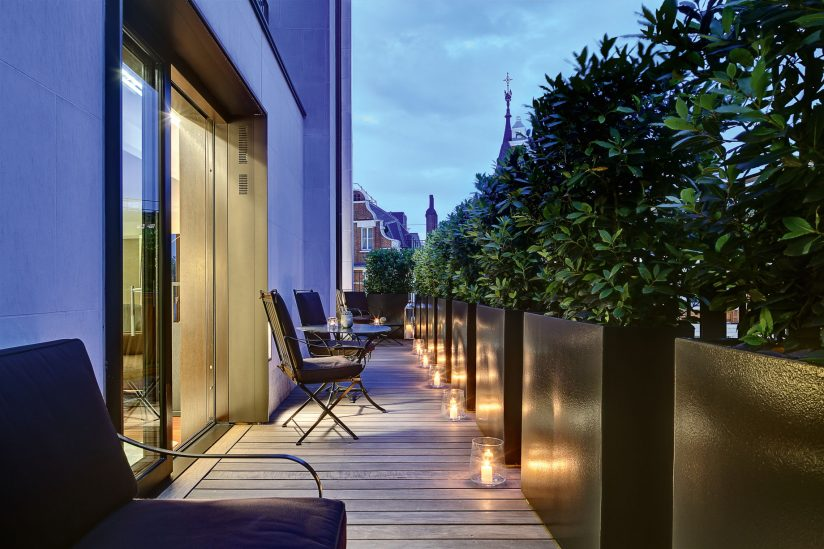 Bvlgari Luxury Hotel London - Knightsbridge, London, UK - Exterior Deck Terrace