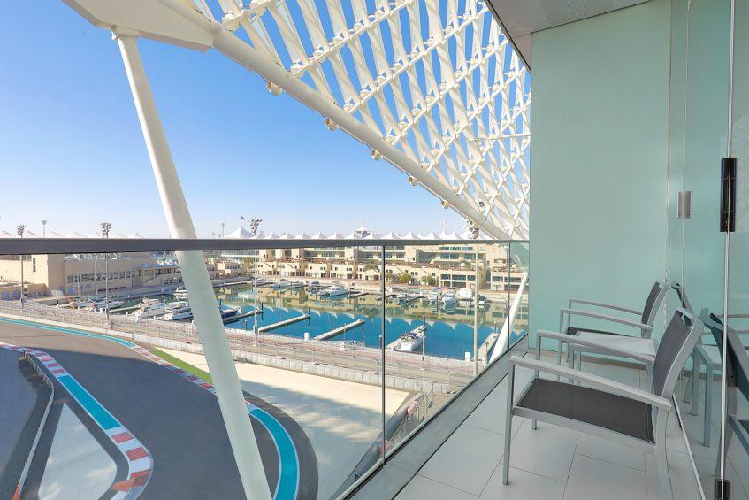 W Abu Dhabi Yas Island Luxury Hotel - Abu Dhabi, UAE - Spectacular Guest Room Balcony