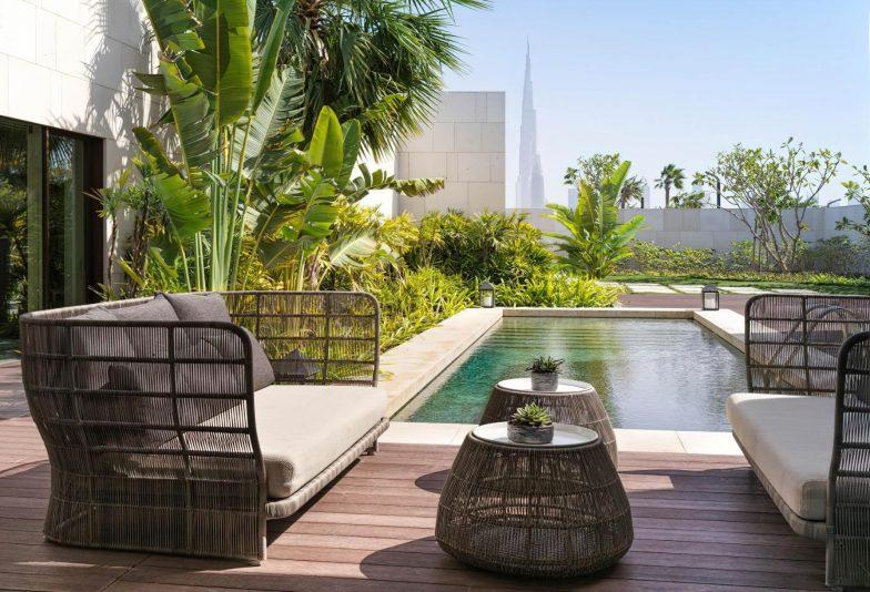 Bvlgari Luxury Resort Dubai - Jumeira Bay Island, Dubai, UAE - Exterior Pool Deck Terrace