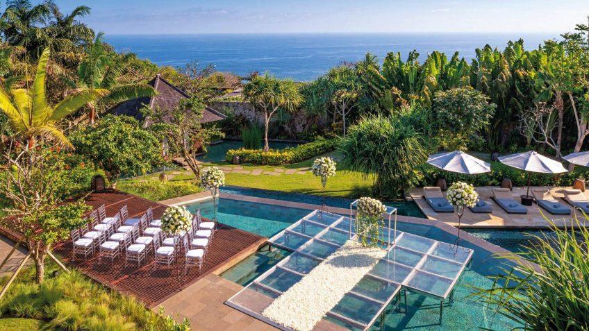 Bvlgari Luxury Resort Bali - Uluwatu, Bali, Indonesia - Poolside Wedding