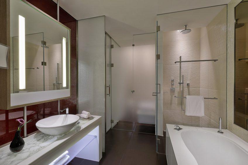 W Abu Dhabi Yas Island Luxury Hotel - Abu Dhabi, UAE - Wonderful Guest Bathroom