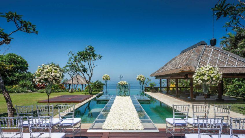 Bvlgari Luxury Resort Bali - Uluwatu, Bali, Indonesia - Poolside Wedding Ocean View