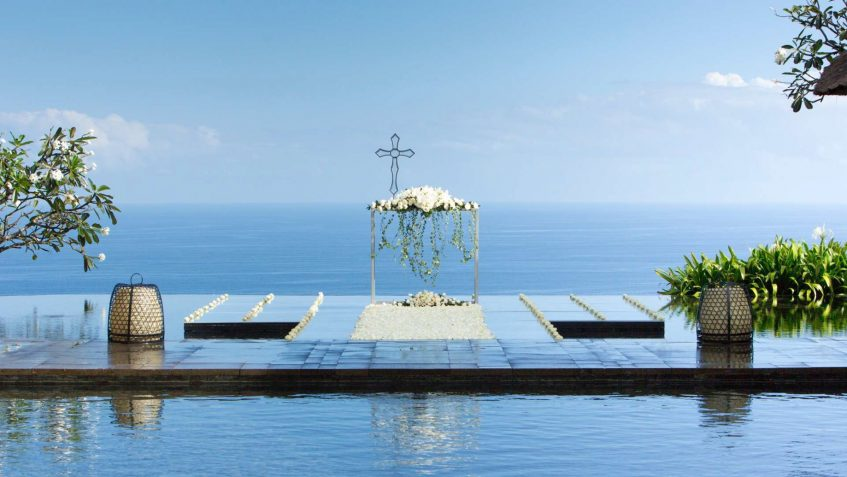 Bvlgari Luxury Resort Bali - Uluwatu, Bali, Indonesia - Pool Deck Wedding Ocean View