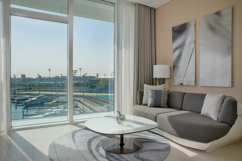 W Abu Dhabi Yas Island Luxury Hotel - Abu Dhabi, UAE - Spectacular Guest Room View