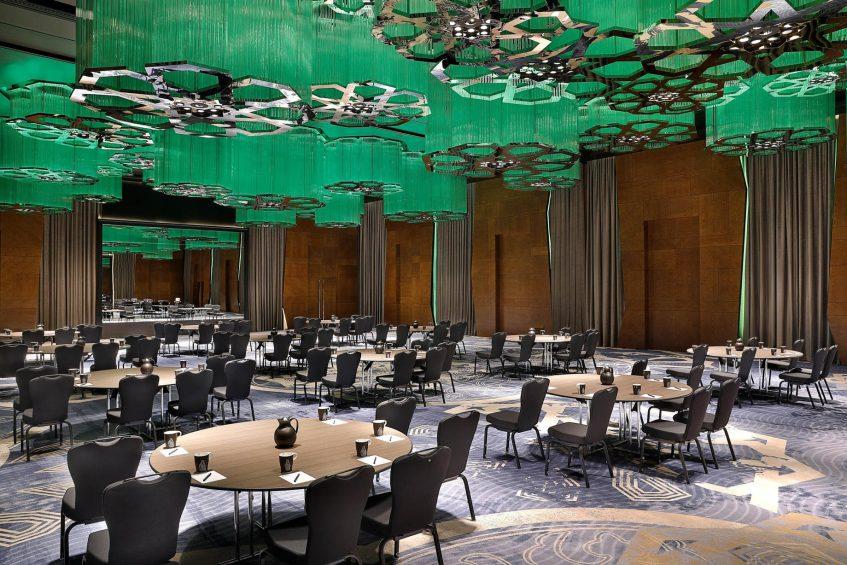 W Muscat Luxury Resort - Muscat, Oman - Great Room Green Banquet Setup