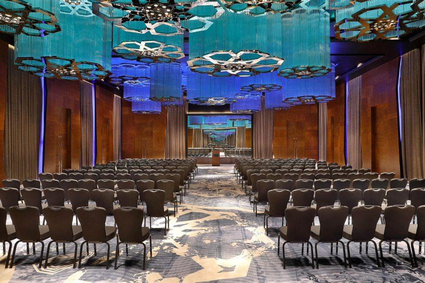 W Muscat Luxury Resort - Muscat, Oman - Great Room Theatre Setup