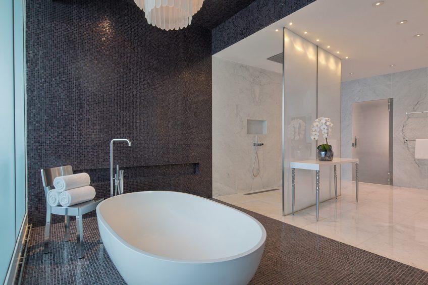 W Abu Dhabi Yas Island Luxury Hotel - Abu Dhabi, UAE - E WOW Suite Bathroom