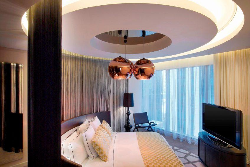 W Doha Luxury Hotel - Doha, Qatar - W Suite Bedroom Decor