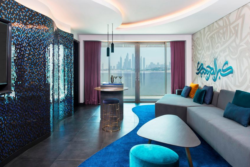 W Dubai The Palm Luxury Resort - Dubai, UAE - Mega Suite Living Room