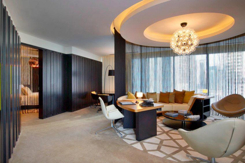 W Doha Luxury Hotel - Doha, Qatar - W Suite Living Room Seating