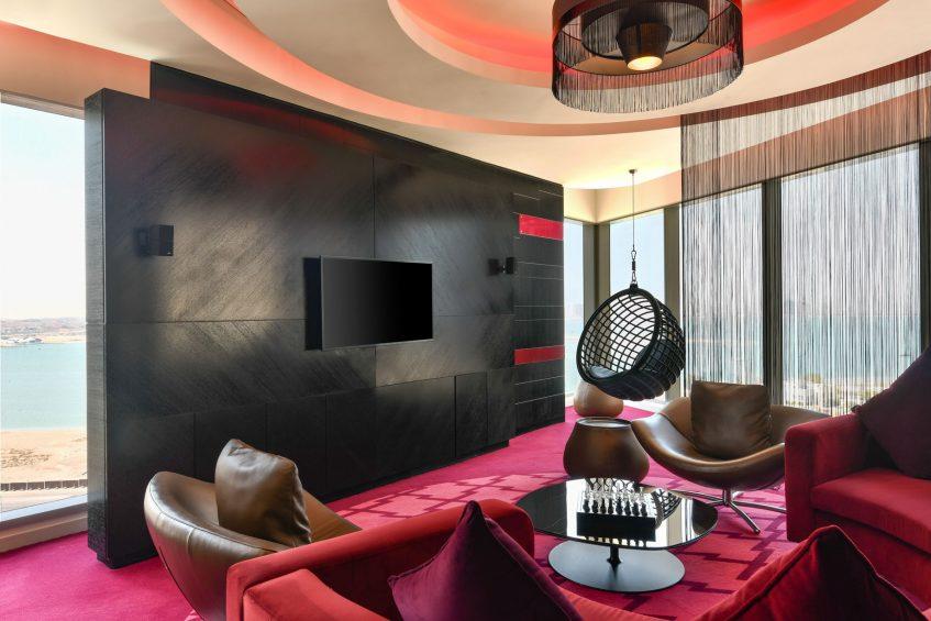 W Doha Luxury Hotel - Doha, Qatar - WOW Suite Living Area