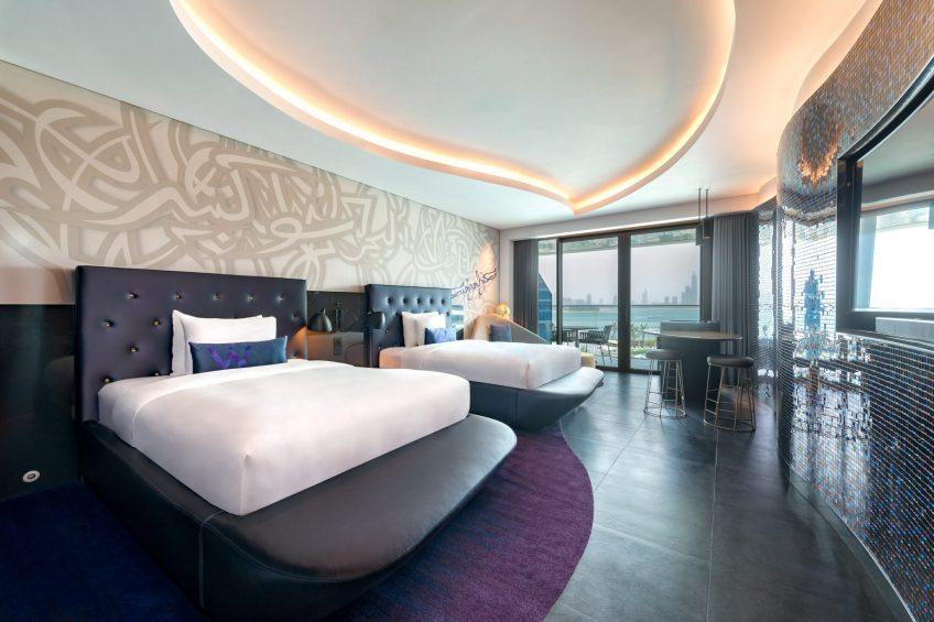 W Dubai The Palm Luxury Resort - Dubai, UAE - Mega Suite Twin Bedroom