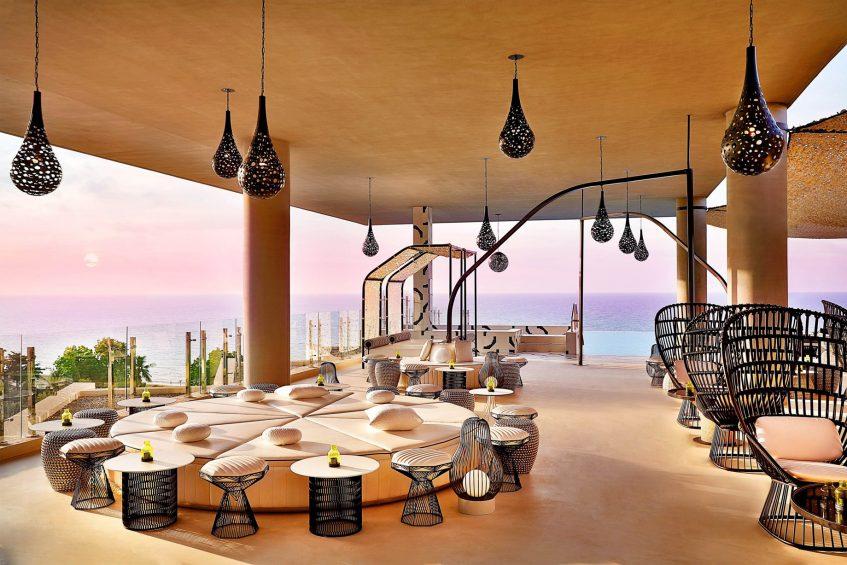 W Muscat Luxury Resort - Muscat, Oman - Siddharta Lounge by Buddha Bar Round Seating