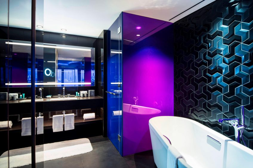 W Dubai The Palm Luxury Resort - Dubai, UAE - Spectacular Terrace Bathroom