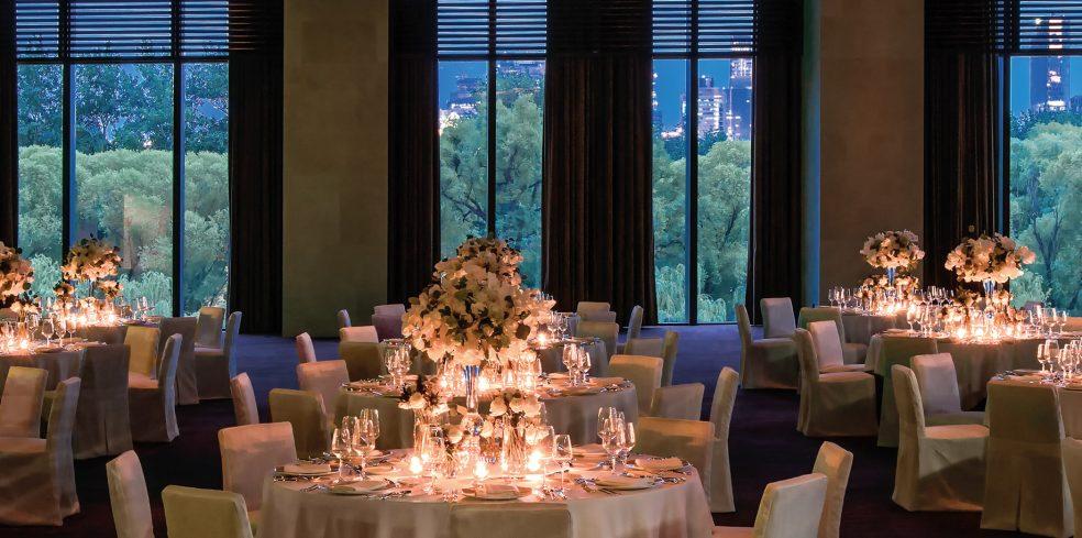 Bvlgari Luxury Hotel Beijing - Beijing, China - Ballroom Tables Night