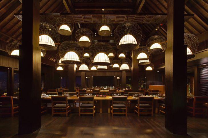 Bvlgari Luxury Resort Bali - Uluwatu, Bali, Indonesia - The Sangkar Restaurant Night