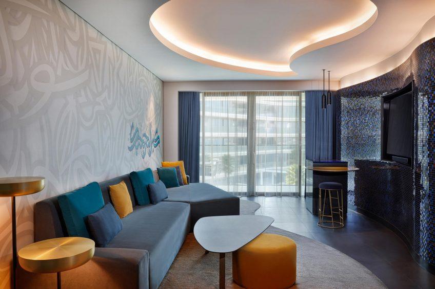 W Dubai The Palm Luxury Resort - Dubai, UAE - W Suite Living Room