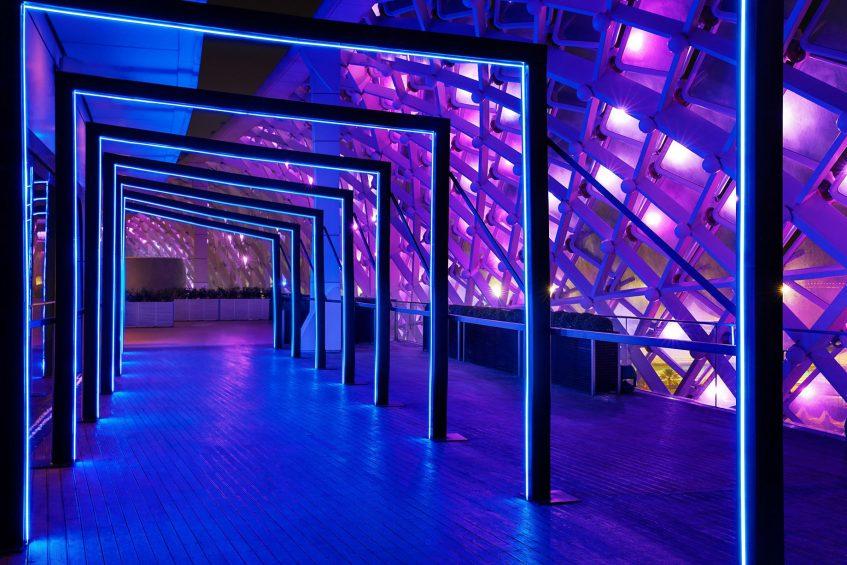 W Abu Dhabi Yas Island Luxury Hotel - Abu Dhabi, UAE - WET Deck Arcade