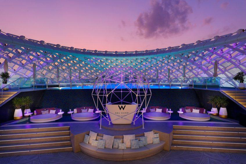 W Abu Dhabi Yas Island Luxury Hotel - Abu Dhabi, UAE - WET Deck Twilight