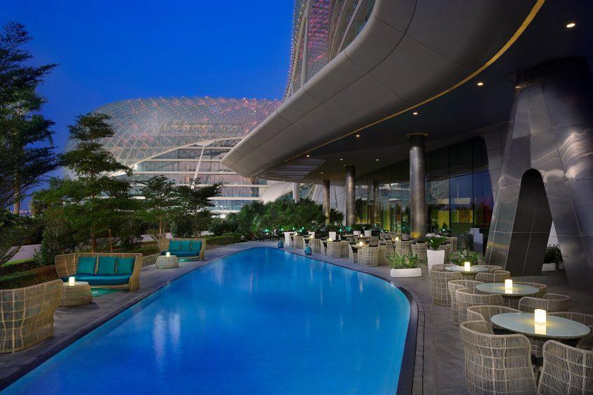 W Abu Dhabi Yas Island Luxury Hotel - Abu Dhabi, UAE - Hotel Outside Terrace