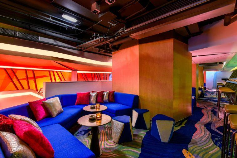 W Amman Luxury Hotel - Amman, Jordan - Aura Lounge Booth