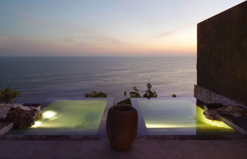 Bvlgari Luxury Resort Bali - Uluwatu, Bali, Indonesia - Hot and Cold Ocean View Cliffside Plunge Pools Sunset