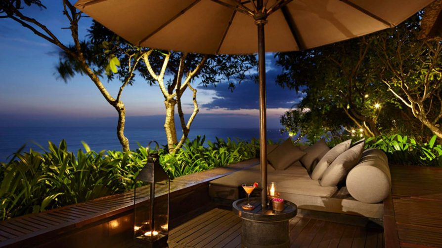 Bvlgari Luxury Resort Bali - Uluwatu, Bali, Indonesia - Ocean View Lounge Deck Night