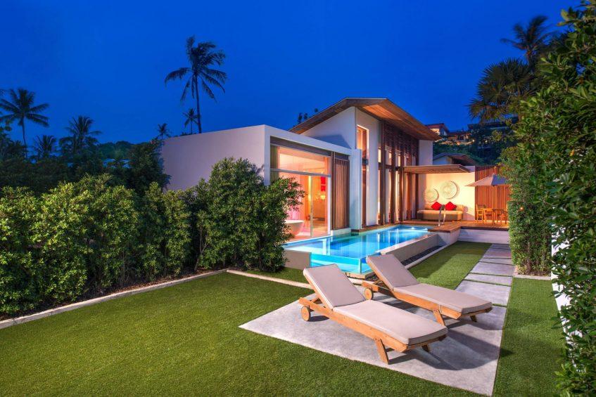 W Koh Samui Luxury Resort - Thailand - Tropical Oasis Villa Night View