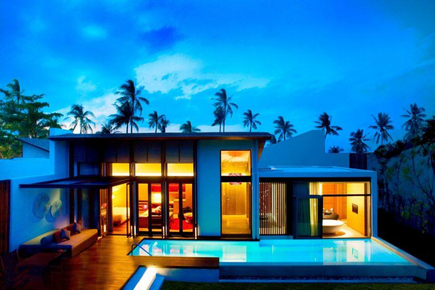 W Koh Samui Luxury Resort - Thailand - Tropical Oasis Villa Exterior Night View