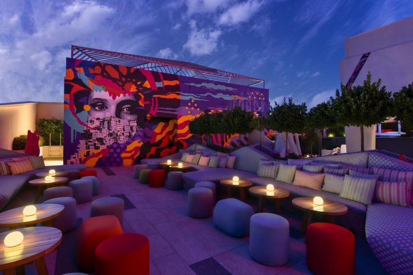 W Amman Luxury Hotel - Amman, Jordan - WET Deck Lounge Night