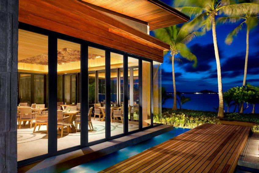 W Koh Samui Luxury Resort - Thailand - Namu Restaurant Ocean View at Night