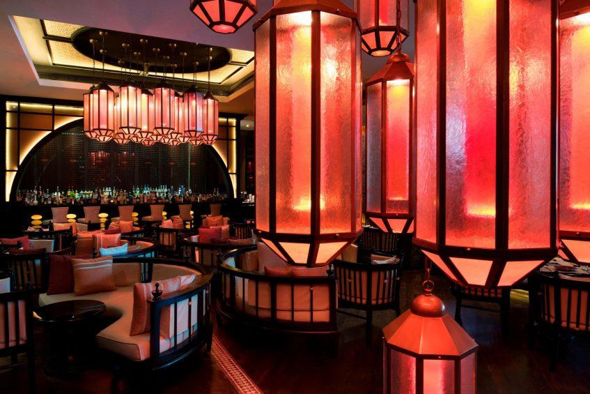 W Doha Luxury Hotel - Doha, Qatar - Spice Market Restaurant Bar Area