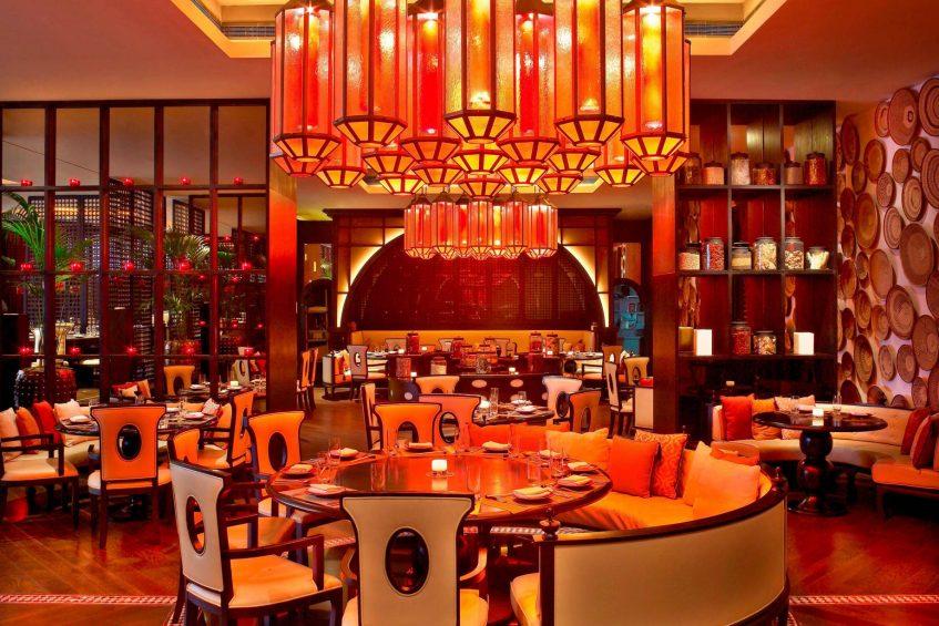 W Doha Luxury Hotel - Doha, Qatar - Spice Market Restaurant Tables