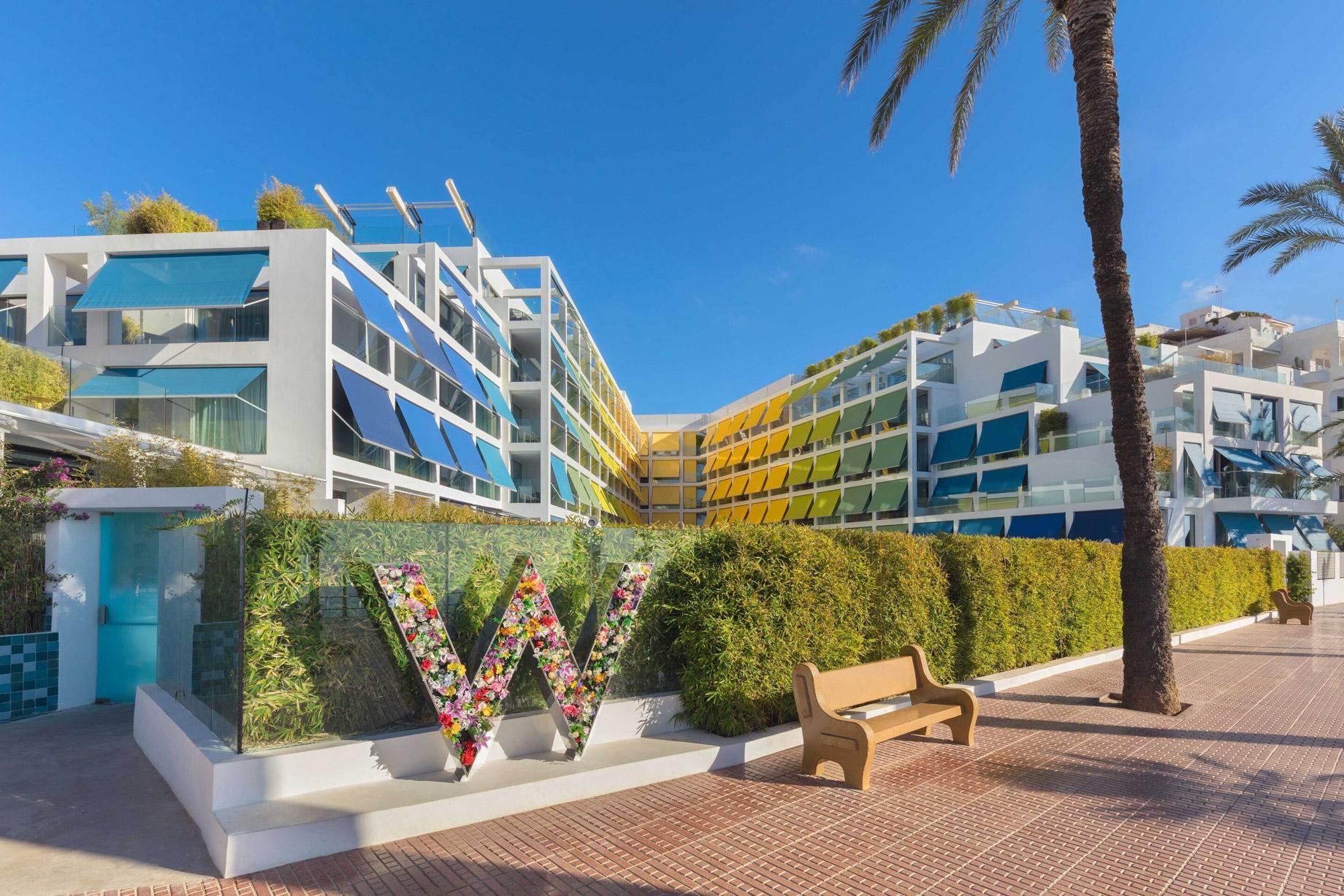 W Ibiza Luxury Hotel - Santa Eulalia del Rio, Spain - W Ibiza Boulevard Entrance