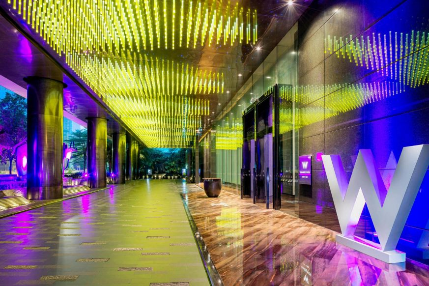W Guangzhou Luxury Hotel - Tianhe District, Guangzhou, China - Front Entrance