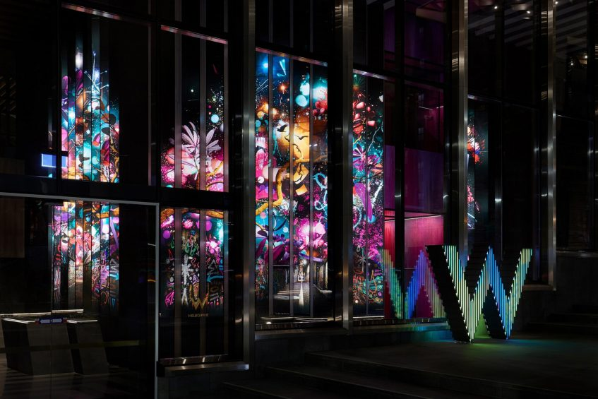 W Melbourne Luxury Hotel - Melbourne, Australia - W Melbourne Exterior at Night