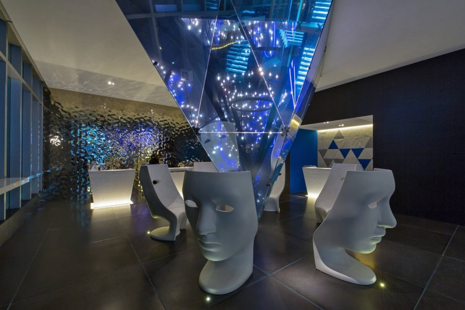 W Mexico City Luxury Hotel - Polanco, Mexico City, Mexico - Lobby Welcome Desk Night
