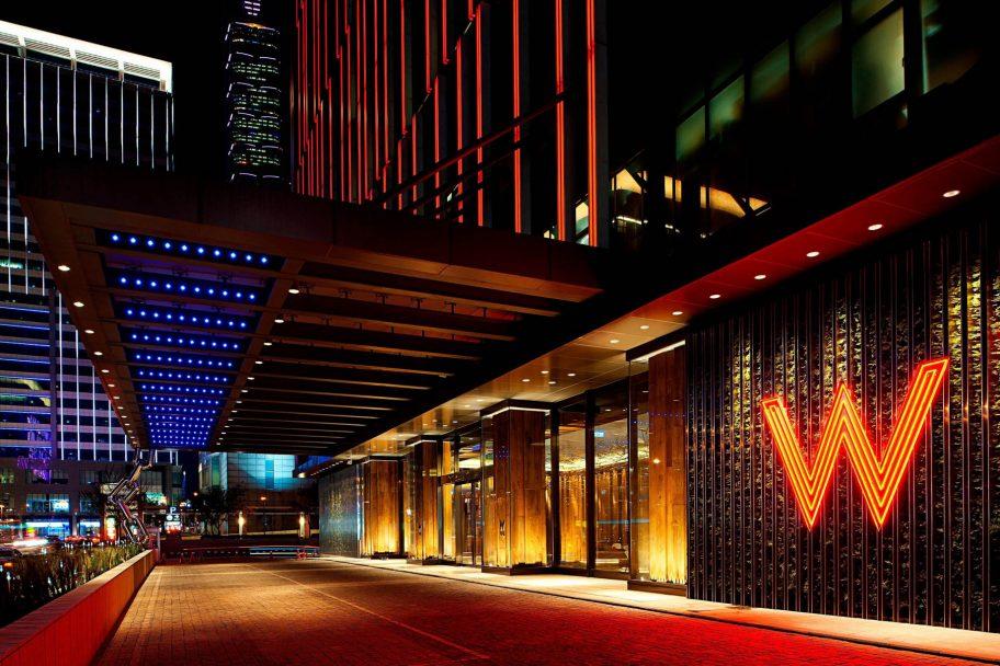 W Taipei Luxury Hotel - Taipei, Taiwan - Hotel Entrance Night