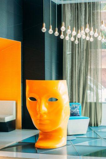 W Mexico City Luxury Hotel - Polanco, Mexico City, Mexico - Lobby Living Room Bar Art