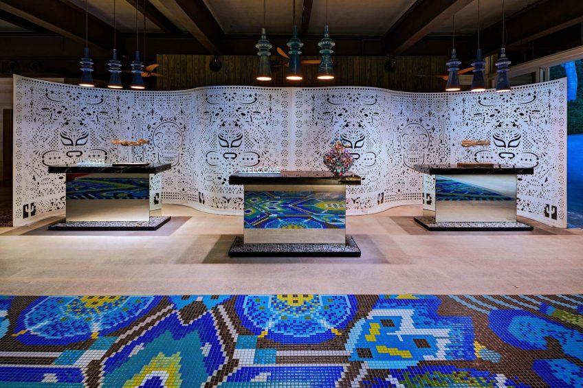 W Punta de Mita Luxury Resort - Punta De Mita, Mexico - Lobby Welcome Desk Decor