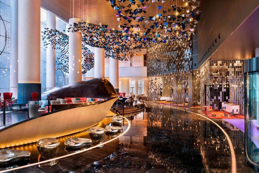 W Suzhou Luxury Hotel - Suzhou, China - Lobby Living Room Decor