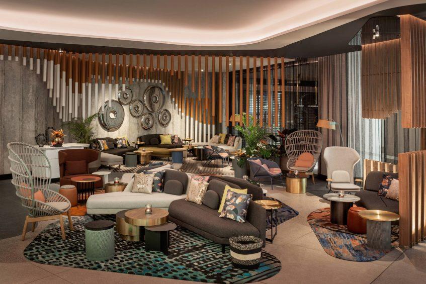 W Brisbane Luxury Hotel - Brisbane, Australia - Living Room Bar Lounge Area