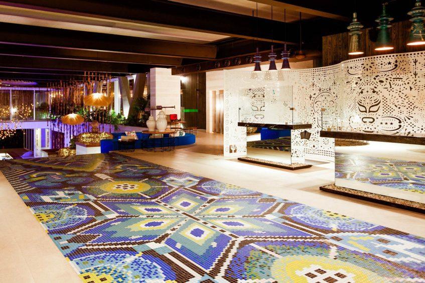W Punta de Mita Luxury Resort - Punta De Mita, Mexico - Lobby Welcome Desk Night