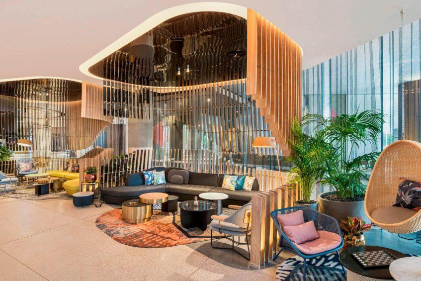 W Brisbane Luxury Hotel - Brisbane, Australia - Living Room Bar Seating