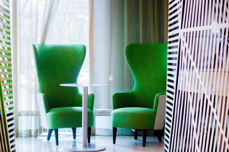 W Mexico City Luxury Hotel - Polanco, Mexico City, Mexico - Lobby Living Room Bar Stylish Chairs