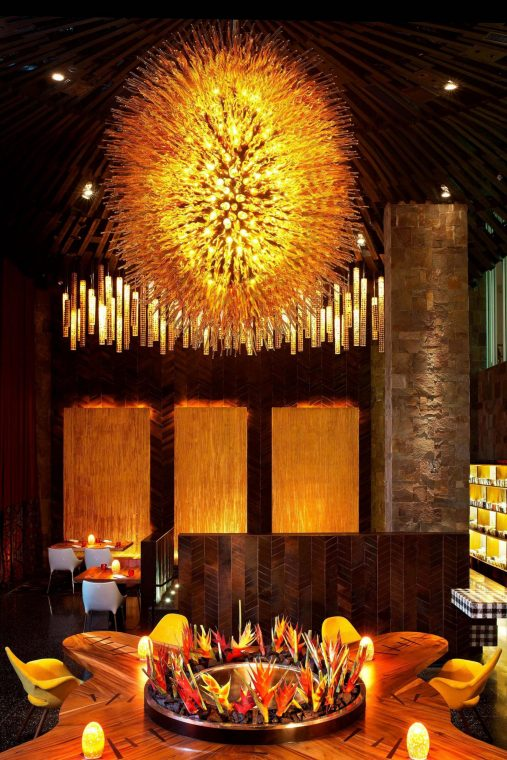 W Bali Seminyak Luxury Resort - Seminyak, Indonesia - Fire Restaurant Table Decor