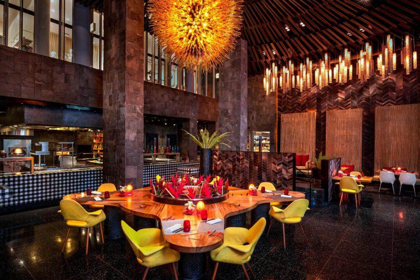 W Bali Seminyak Luxury Resort - Seminyak, Indonesia - Fire Restaurant Seating