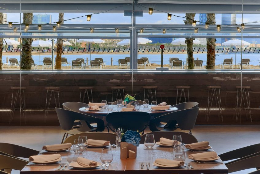 W Barcelona Luxury Hotel - Barcelona, Spain - Salt Restaurant Table Views